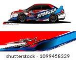rally car vector livery.... | Shutterstock .eps vector #1099458329