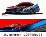 rally car vector livery.... | Shutterstock .eps vector #1099458335