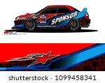 rally car vector livery.... | Shutterstock .eps vector #1099458341