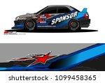 rally car vector livery.... | Shutterstock .eps vector #1099458365