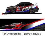 rally car vector livery.... | Shutterstock .eps vector #1099458389