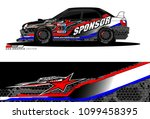 rally car vector livery.... | Shutterstock .eps vector #1099458395