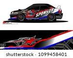 rally car vector livery.... | Shutterstock .eps vector #1099458401