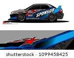 rally car vector livery.... | Shutterstock .eps vector #1099458425