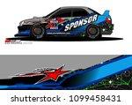 rally car vector livery.... | Shutterstock .eps vector #1099458431