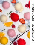 orange  vanilla  raspberry and... | Shutterstock . vector #1099458581