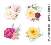 floral decors with colorful... | Shutterstock .eps vector #1099458857