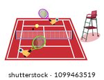 tennis clay court. clay red...   Shutterstock .eps vector #1099463519