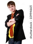 serious handsome man wearing... | Shutterstock . vector #10994665
