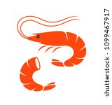 shrimp set. isolated shrimp on... | Shutterstock .eps vector #1099467917