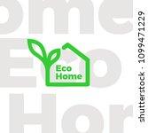 eco home logo   Shutterstock .eps vector #1099471229