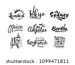 names of cities  london  tokyo  ... | Shutterstock .eps vector #1099471811