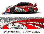 rally car vector livery.... | Shutterstock .eps vector #1099476029