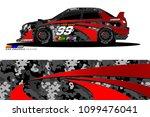 rally car vector livery.... | Shutterstock .eps vector #1099476041
