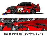 rally car vector livery.... | Shutterstock .eps vector #1099476071