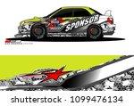 rally car vector livery....   Shutterstock .eps vector #1099476134