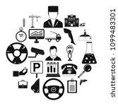 working quarter icons set.... | Shutterstock .eps vector #1099483301