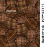 realistic vector wood texture... | Shutterstock .eps vector #1099485674