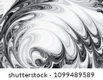 Small photo of abstract background pattern texture, white and black marble painting on water, stone blob concept