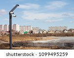 three cctv security camera... | Shutterstock . vector #1099495259