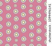 flowers seamless pattern | Shutterstock .eps vector #1099496141