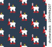 llama on skates seamless...   Shutterstock .eps vector #1099496207