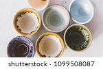 ceramic bowls for drinks close... | Shutterstock . vector #1099508087