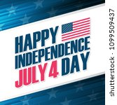 happy independence day  4th of... | Shutterstock .eps vector #1099509437