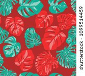 seamless tropical pattern with... | Shutterstock .eps vector #1099514459