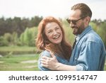 portrait of joyful red haired... | Shutterstock . vector #1099514747
