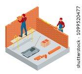 isometric industrial worker... | Shutterstock .eps vector #1099520477