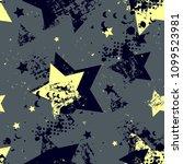 abstract seamless stars pattern.... | Shutterstock .eps vector #1099523981