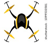 isolated drone toy | Shutterstock .eps vector #1099533581