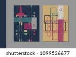 vector minimalistic cover...   Shutterstock .eps vector #1099536677