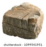 big stone isolated on white... | Shutterstock . vector #1099541951