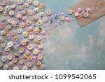 flowers of daisies  pansies ... | Shutterstock . vector #1099542065