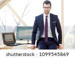 portrait of young businessman... | Shutterstock . vector #1099545869