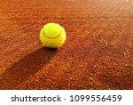tennis ball on tennis clay...   Shutterstock . vector #1099556459
