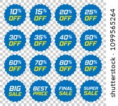 discount stickers vector icon... | Shutterstock .eps vector #1099565264
