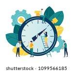 vector illustration  stopwatch... | Shutterstock .eps vector #1099566185
