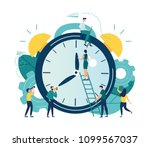 vector illustration  alarm... | Shutterstock .eps vector #1099567037