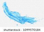 translucent splash or jet of... | Shutterstock .eps vector #1099570184