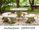 a marble garden bench   Shutterstock . vector #109957259