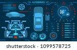 car service. scanning....   Shutterstock .eps vector #1099578725