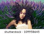 beautiful sensual lady lying in ... | Shutterstock . vector #109958645