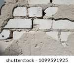 cracked concrete vintage brick... | Shutterstock . vector #1099591925