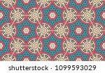 vector patchwork quilt seamless ... | Shutterstock .eps vector #1099593029