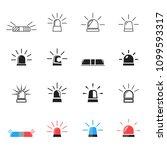 flashing alarm signal. police ... | Shutterstock .eps vector #1099593317