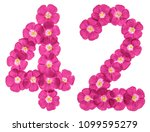 arabic numeral 42  forty two ... | Shutterstock . vector #1099595279