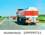 tanker storage truck in the... | Shutterstock . vector #1099595711